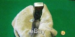 Vtg KA-BAR HuntBlade 6 Knife Sheath USA WW Stag Handles #1 Leather fold case