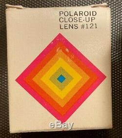 Vtg. Polaroid SX-70 Folding Land Camera Original Leather Case Mint Accessories