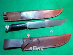 Vtg Sheath Hunt 10 Blade USA Made MARBLES TRAILMAKER Knife 1 Orig Rare Fold Case
