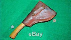 Vtg Sheath Hunt #5 Blade Old MARBLESSAFETYHatchet AxeKnife Orig leather case