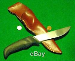 Vtg Sheath Hunt Blade GERBER1960s Armorhide MAGNUM Knife +Orig leather fold case