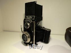 WELTA SUPERFEKTA With Carl Zeiss 10,5/3.8 Original leather case Rare Camera