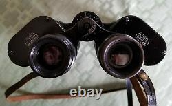 WW2 Marseptit E. Leitz Wetzlar German 7x50 Binoculars with Leather Case WWII Era