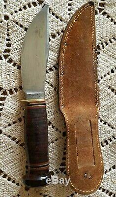 WWII VINTAGE MARBLE'S KNIFE USA Made Gladstone, MI & Case Minty Marble Knife