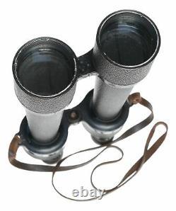 WWI Carl Zeiss Jena Delfort Binoculars 18x50 Original Leather Strap cased