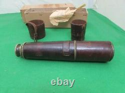 WWI Issued JH Dallmeyer London 3 Drawer Mk IV Telescope, Original Leather Case