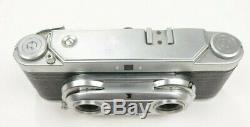 Wirgin Edixa 35mm Film Stereo 3D Rangefinder Camera Original Leather Case