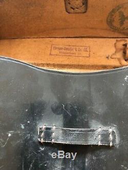Ww2 Wwii German Leather Case Box Wehrmacht Military Field Original Marked 1943