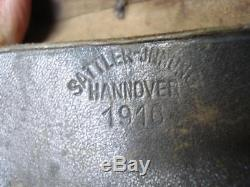 Wwi 1916 Original German Leather K98 Cleaning Kit Case