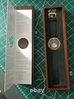 Xeric Xeriscope Original Automatic Rose Gold Case Black Face with 2 straps BNIB