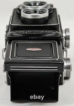 Yashicaflex Medium Format Film TLR Camera + Yashikor Lens &Original Leather Case