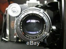 Zeiss Ikon super Ikonta 531 camera with original leather case Tessar 75mm 3.5